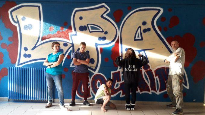 L'équipe de graffeurs